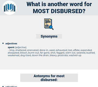 most disbursed, synonym most disbursed, another word for most disbursed, words like most disbursed, thesaurus most disbursed