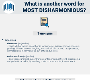 most disharmonious, synonym most disharmonious, another word for most disharmonious, words like most disharmonious, thesaurus most disharmonious