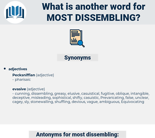most dissembling, synonym most dissembling, another word for most dissembling, words like most dissembling, thesaurus most dissembling