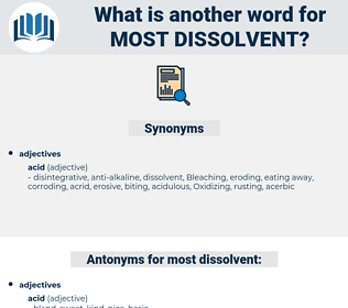 most dissolvent, synonym most dissolvent, another word for most dissolvent, words like most dissolvent, thesaurus most dissolvent