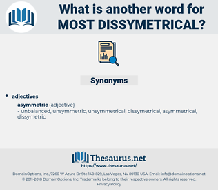 most dissymetrical, synonym most dissymetrical, another word for most dissymetrical, words like most dissymetrical, thesaurus most dissymetrical