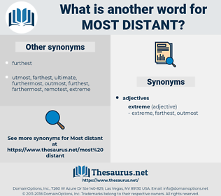 most distant, synonym most distant, another word for most distant, words like most distant, thesaurus most distant