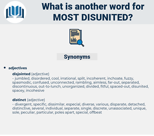 most disunited, synonym most disunited, another word for most disunited, words like most disunited, thesaurus most disunited