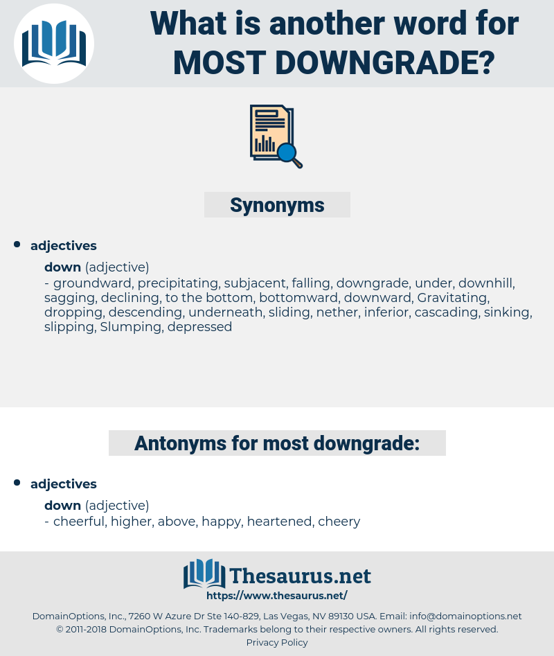 most downgrade, synonym most downgrade, another word for most downgrade, words like most downgrade, thesaurus most downgrade