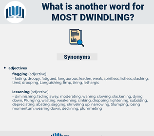 most dwindling, synonym most dwindling, another word for most dwindling, words like most dwindling, thesaurus most dwindling