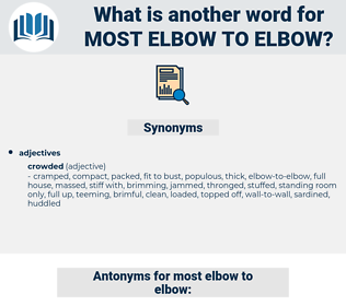 most elbow to elbow, synonym most elbow to elbow, another word for most elbow to elbow, words like most elbow to elbow, thesaurus most elbow to elbow