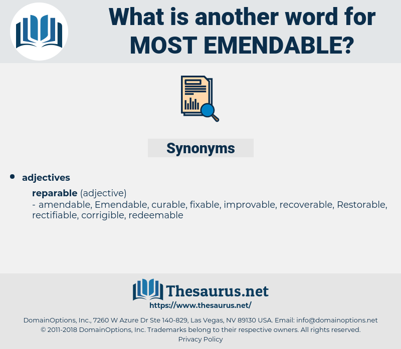 most emendable, synonym most emendable, another word for most emendable, words like most emendable, thesaurus most emendable