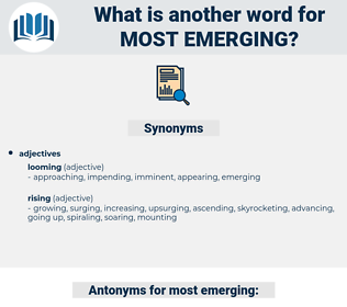 most emerging, synonym most emerging, another word for most emerging, words like most emerging, thesaurus most emerging