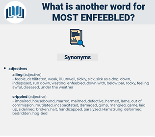 most enfeebled, synonym most enfeebled, another word for most enfeebled, words like most enfeebled, thesaurus most enfeebled