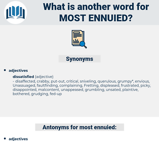 most ennuied, synonym most ennuied, another word for most ennuied, words like most ennuied, thesaurus most ennuied