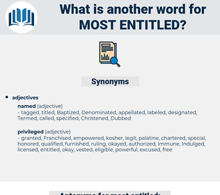 most entitled, synonym most entitled, another word for most entitled, words like most entitled, thesaurus most entitled