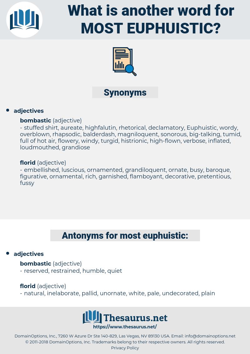most euphuistic, synonym most euphuistic, another word for most euphuistic, words like most euphuistic, thesaurus most euphuistic