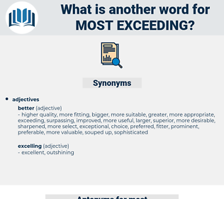most exceeding, synonym most exceeding, another word for most exceeding, words like most exceeding, thesaurus most exceeding