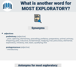 most exploratory, synonym most exploratory, another word for most exploratory, words like most exploratory, thesaurus most exploratory