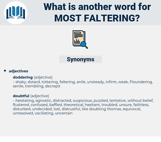 most faltering, synonym most faltering, another word for most faltering, words like most faltering, thesaurus most faltering