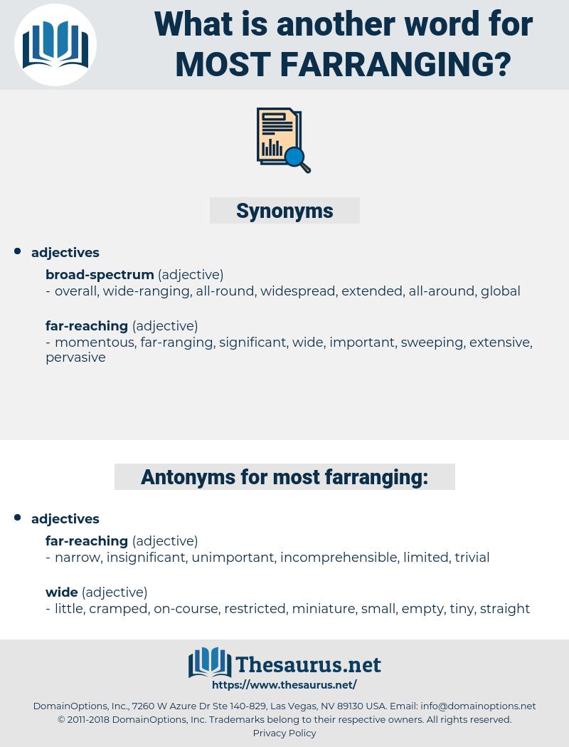 most farranging, synonym most farranging, another word for most farranging, words like most farranging, thesaurus most farranging