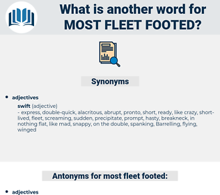 most fleet-footed, synonym most fleet-footed, another word for most fleet-footed, words like most fleet-footed, thesaurus most fleet-footed