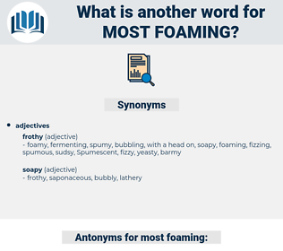 most foaming, synonym most foaming, another word for most foaming, words like most foaming, thesaurus most foaming