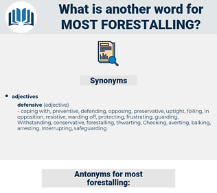 most forestalling, synonym most forestalling, another word for most forestalling, words like most forestalling, thesaurus most forestalling
