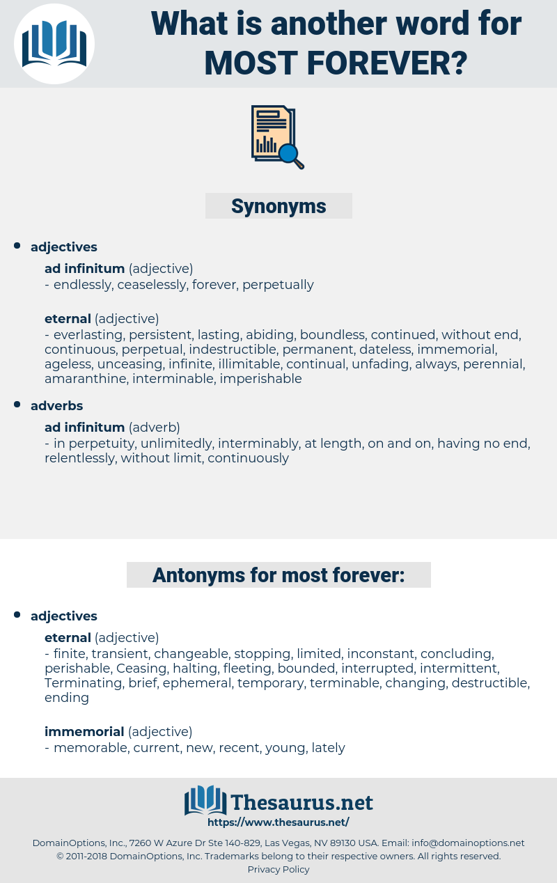 most forever, synonym most forever, another word for most forever, words like most forever, thesaurus most forever