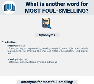 most foul smelling, synonym most foul smelling, another word for most foul smelling, words like most foul smelling, thesaurus most foul smelling