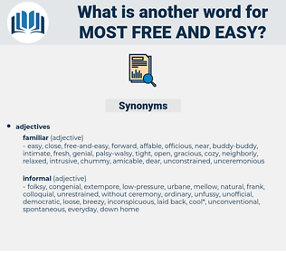 most free and easy, synonym most free and easy, another word for most free and easy, words like most free and easy, thesaurus most free and easy