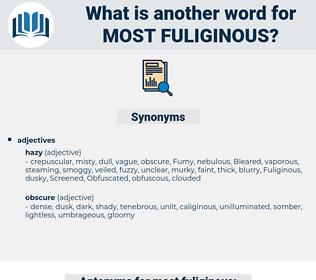 most fuliginous, synonym most fuliginous, another word for most fuliginous, words like most fuliginous, thesaurus most fuliginous