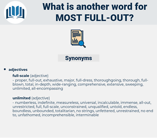 most full-out, synonym most full-out, another word for most full-out, words like most full-out, thesaurus most full-out