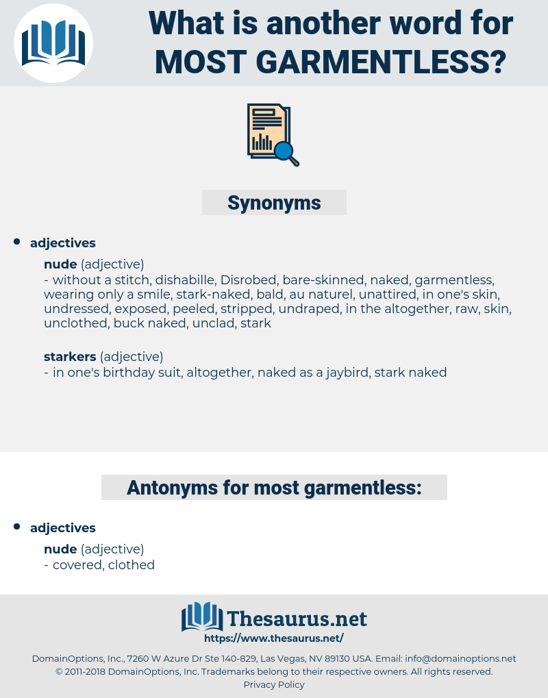 most garmentless, synonym most garmentless, another word for most garmentless, words like most garmentless, thesaurus most garmentless