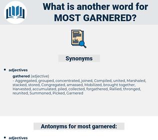 most garnered, synonym most garnered, another word for most garnered, words like most garnered, thesaurus most garnered