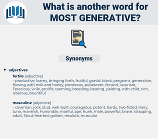 most generative, synonym most generative, another word for most generative, words like most generative, thesaurus most generative
