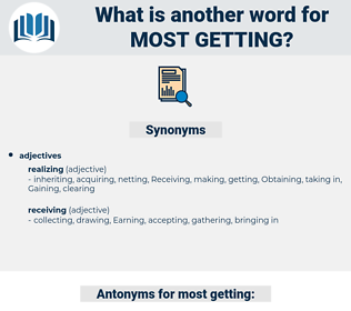most getting, synonym most getting, another word for most getting, words like most getting, thesaurus most getting