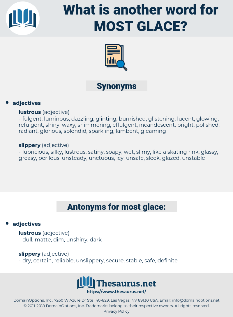 most glace, synonym most glace, another word for most glace, words like most glace, thesaurus most glace