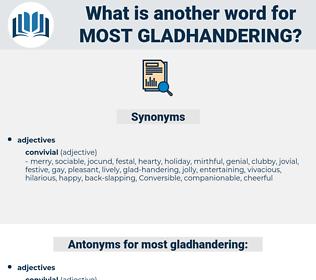 most gladhandering, synonym most gladhandering, another word for most gladhandering, words like most gladhandering, thesaurus most gladhandering
