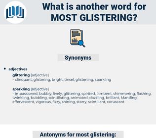most glistering, synonym most glistering, another word for most glistering, words like most glistering, thesaurus most glistering