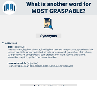 most graspable, synonym most graspable, another word for most graspable, words like most graspable, thesaurus most graspable