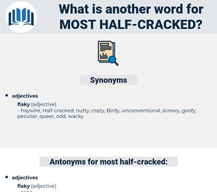 most half-cracked, synonym most half-cracked, another word for most half-cracked, words like most half-cracked, thesaurus most half-cracked