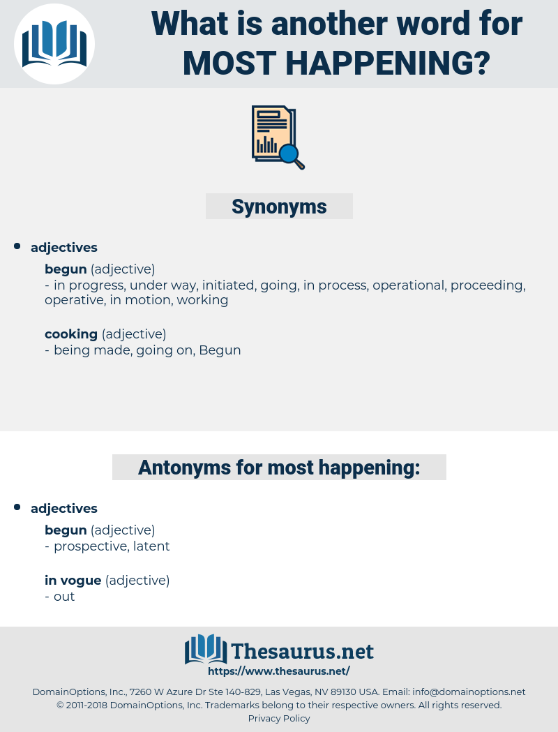 most happening, synonym most happening, another word for most happening, words like most happening, thesaurus most happening