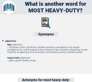 most heavy duty, synonym most heavy duty, another word for most heavy duty, words like most heavy duty, thesaurus most heavy duty