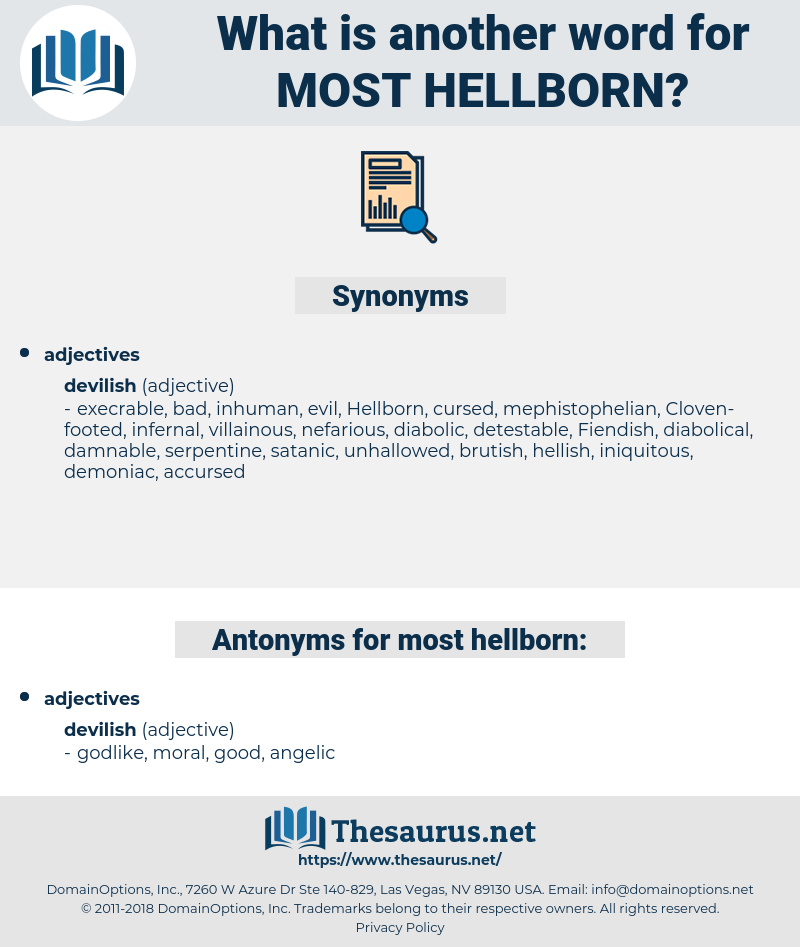 most hellborn, synonym most hellborn, another word for most hellborn, words like most hellborn, thesaurus most hellborn
