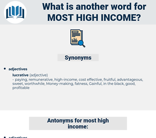 most high income, synonym most high income, another word for most high income, words like most high income, thesaurus most high income