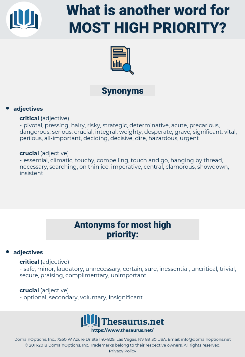 most high-priority, synonym most high-priority, another word for most high-priority, words like most high-priority, thesaurus most high-priority