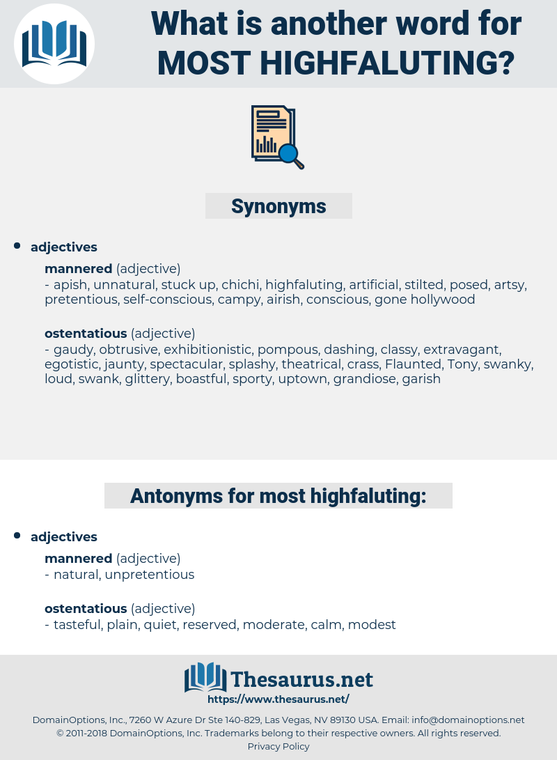 most highfaluting, synonym most highfaluting, another word for most highfaluting, words like most highfaluting, thesaurus most highfaluting
