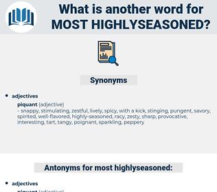 most highlyseasoned, synonym most highlyseasoned, another word for most highlyseasoned, words like most highlyseasoned, thesaurus most highlyseasoned