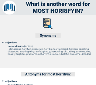 most horrifyin, synonym most horrifyin, another word for most horrifyin, words like most horrifyin, thesaurus most horrifyin