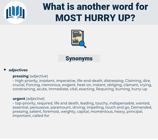 most hurry up, synonym most hurry up, another word for most hurry up, words like most hurry up, thesaurus most hurry up
