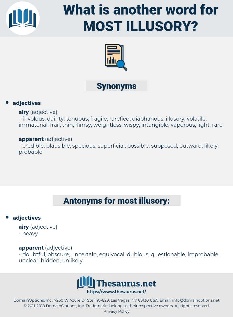 most illusory, synonym most illusory, another word for most illusory, words like most illusory, thesaurus most illusory