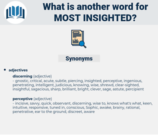 most insighted, synonym most insighted, another word for most insighted, words like most insighted, thesaurus most insighted