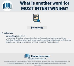 most intertwining, synonym most intertwining, another word for most intertwining, words like most intertwining, thesaurus most intertwining