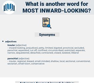 most inward looking, synonym most inward looking, another word for most inward looking, words like most inward looking, thesaurus most inward looking